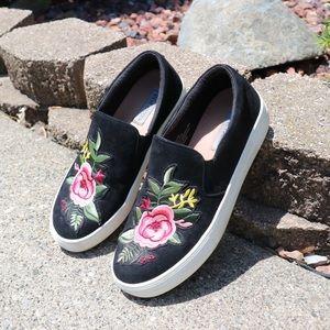 Steve Madden embroidered garden slip on shoes